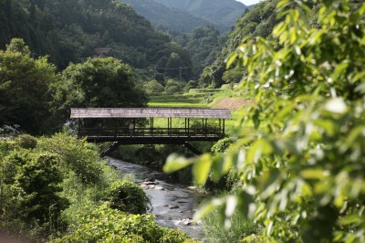 屋根付き橋の田丸橋