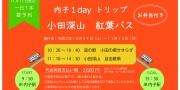 小田深山紅葉バスツアー予約受付中!